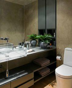 #bathroom #beige #brown