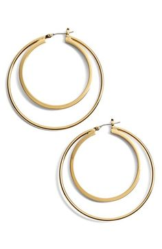 Trina Turk Medium Double Hoop Earrings