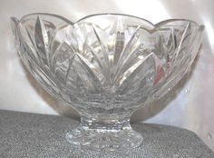 """Marquis by Waterford Cantebury 10"""" crystal bowl & serving utensils"""