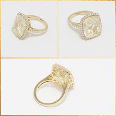 Gorgeous 18k yellow sapphire and diamond ring!