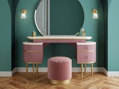 Zelda: A tribute to the femininity of the The new wash basin from . - Zelda: A tribute to the femininity of the The new wash basin from Devon & Devon – Dormitori - Pink Dressing Tables, Dressing Table Design, Art Deco Dressing Table, Dressing Room, Dressing Table Vanity, Simple Dressing Table, Retro Dressing Table, Bedroom Dressing Table, Vanity Tables