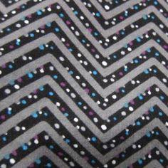 Black Dot Zig Zag Cotton Jersey
