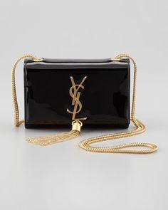 Cassandre Small Patent Crossbody Bag, YSL