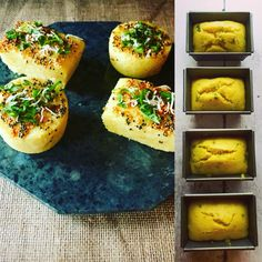 Dhokla Loaves and Muffins... Gluten free spiced savoury cakes