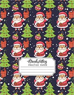 Handwriting Practice Paper: Christmas Handwriting Practice Books for Kids | Writing Paper with Mid-Lines for Students Learning to write letters | (Santa Claus Gift & Lighting Tree Pattern Theme): Handwriting, Uniktexpert: 9798560009991: AmazonSmile: Books Kids Writing, Writing Paper, Letter Writing, Learning To Write, Student Learning, Educational Christmas Gifts, Handwriting Practice Paper, Gifted Education, Santa Letter