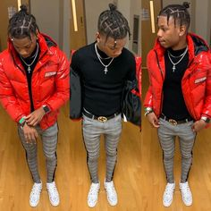 Winter Swag Outfits, Swag Outfits Men, Stylish Mens Outfits, Mode Streetwear, Streetwear Fashion, Black Men Street Fashion, Fashion Men, Black Outfit Men, Rapper Outfits