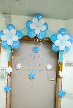 Events Managements: Al Wasl Hospital Decoration Baby Shower Deco, Baby Shower Balloons, Baby Shower Parties, Baby Shower Themes, Baby Boy Shower, Birthday Balloon Decorations, Birthday Balloons, Deco Buffet, Deco Ballon