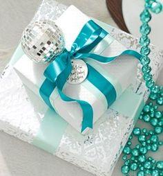 Turquoise | Aqua | Christmas present, gift, decorations