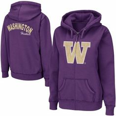 want it! Washington Huskies Ladies Cozy II Full Zip Hoodie - Purple