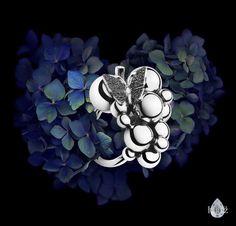 Georg Jensen silver butterfly ring