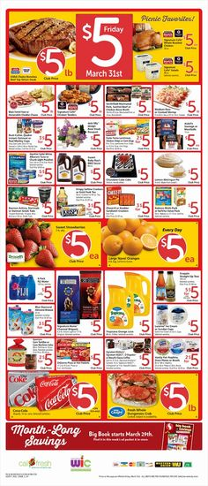 Safeway $5 Friday Ad March 31, 2017 - http://www.olcatalog.com/grocery/safeway-5-friday.html
