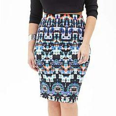 Forever 21 Pencil Skirt NWT unlined knee length pencil skirt with elastic waist  95% Polyester 5%Elastene Forever 21 Skirts