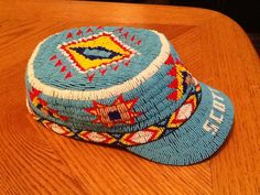Beaded hat. 11/0 cuts made 2012