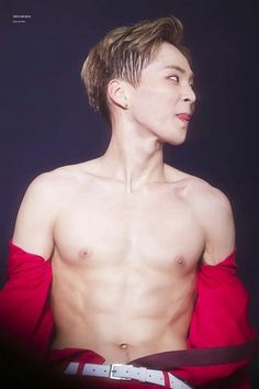 Exo Xiumin Abs k-pop korean k-idol sexy men  beautiful perfect músculo bias hair face fitness