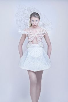 3D printed dress by Francis Bitoni you can make at home with a MakerBot!