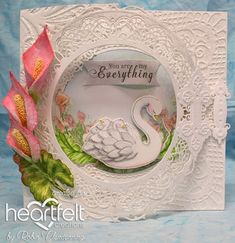 Handmade Flowers, Diy Flowers, Heartfelt Creations Cards, Calla Lily, Cala Lilies, Marianne Design, Pretty And Cute, Paper Decorations, Anniversary Cards