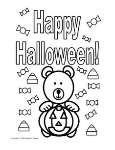 This is a sample coloring page which is part of the Halloween Coloring and Activity Book...
