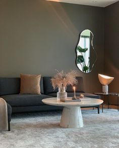 Living room | Ferm Living Large Pond Mirror