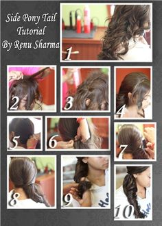 Learn how to do your hair up in a fancy pony tail!  By Renu Sharma  Kikis Body care