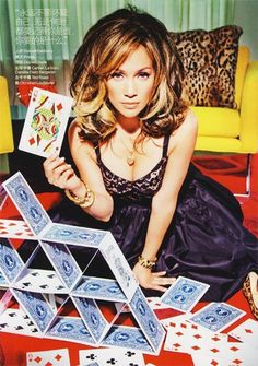 Jennifer Lopez - a house of cards? She must be referring to that love life... a mess and I like it.