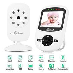 Sp880 Wireless Baby Monitor Lcd Display Two Way Audio