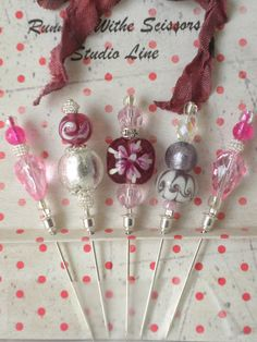 Decorative custom beaded and crystal stick pins