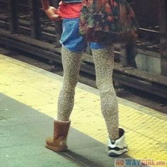 Do You Think She Knows That She Has On 2 Different Shoes?