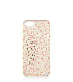 Pink Spot Print iPhone 5 Case #accessories #covetme #newlook