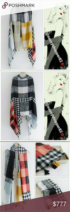Sophisticated oversized scarf New with tags   Sophisticated yet colorful oversized scarf. Perfect for the season. Accessories Scarves & Wraps
