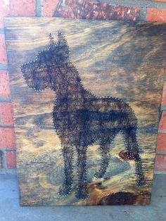 Great Dane String Art. so making one of these!
