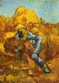 The Sheaf-Binder (after Millet) - Vincent van Gogh - 1889