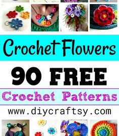 Crochet Flowers – 90+ FREE Crochet Flower Patterns