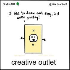 Creative Outlet - illustration by Lisa Slavid / Peadoodles