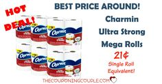 *HOT*HOT*HOT* Charmin Mega Roll Sale!! Get Charmin Ultra Strong Mega Rolls for ONLY 21¢ per single roll equivalent! Grab it now at this price!  Click the link below to get all of the details ► http://www.thecouponingcouple.com/rare-charmin-mega-roll-sale-less-than-0-25-per-single-roll-shipped/  #Coupons #Couponing #CouponCommunity  Visit us at http://www.thecouponingcouple.com for more great posts!