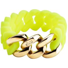 theRubz The Rubz 20mm Bracelet in Neon ($50) ❤ liked on Polyvore featuring jewelry, bracelets, stainless steel chain bracelet, bracelet bangle, neon bangles, stainless steel bangle and stainless steel chains jewelry