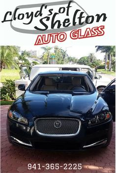 Out with the old windshield for this beautiful Jaguar. Prepping for new windshield installation. https://lloydsofshelton.com/blog/auto-glass-replacement-sarasota-fl/ | #AutoGlass #Sarasota
