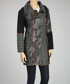 Take a look at this Gray Patchwork Jacket by Shana-K on #zulily today!