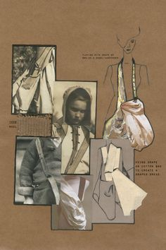 Fashion design development board - fashion sketchbook; fashion design portfolio