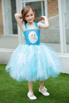 Baby 1st Birthday Tutu Dress, Princess Tutu Costumes, Sky Blue Flower Girl Tulle Dress, Frozen Elsa Dress, Toddlers & Kids Outfits #tutudress #1stbirthday #babyoutfits #tutus #princess #frozendress #costume