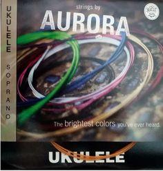 Aurora Coloured Soprano Ukulele Strings available from www.fretfunk.co.uk
