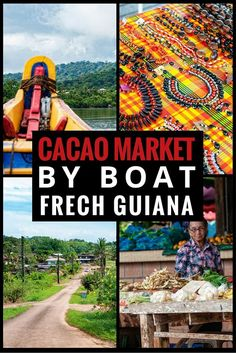 A traditional boat tour to Cacao Market to visit the Hmong community and see cacoa beans growing along the river, in French Guiana #FrenchOverseasAwards