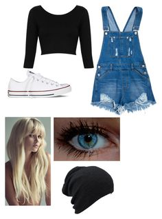 """""""Untitled #82"""" by canne98 ❤ liked on Polyvore featuring Topshop and Converse"""