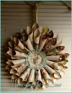 children's book page wreath
