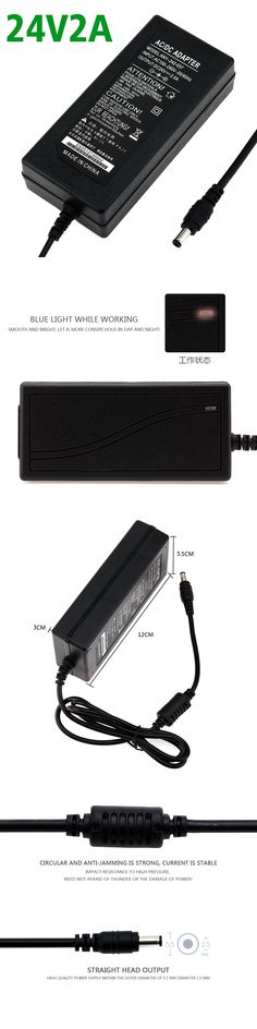 24V2A High quality IC solutions AC 100V-240V DC 24V 2A/2000mA Switch power supply, 48W LED adapter, 5.5mm*2.1-2.5mm