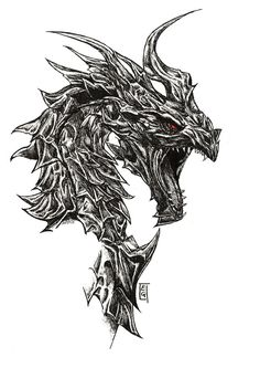 Inktober - Day 21 (Alduin) by EtrGlvz