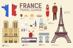 France country flat vector icons set by Sir.Enity on Creative Market