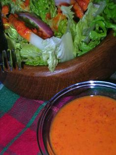 roasted red pepper dressing made with yogurt