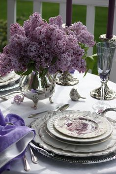 Eva's Fav - StoneGable: Lilac Tablescape