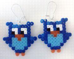owls earings hama perler beads