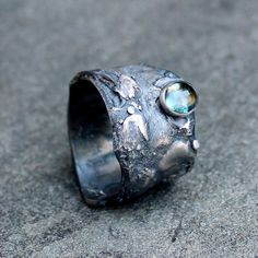 on this needs a home on my hand! Topaz Ring  Blue Topaz Ring  London Blue Topaz Ring  by lsueszabo, $190.00
